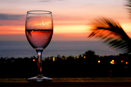 wine and sunsets